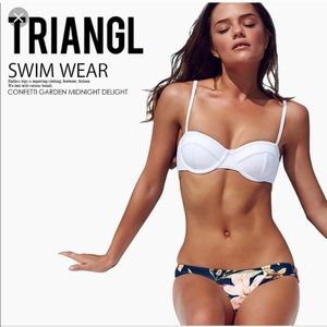 Triangl White Balconette Swim Top